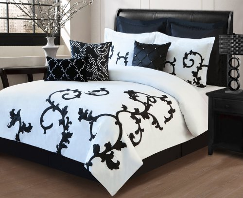 black and white comforter sets