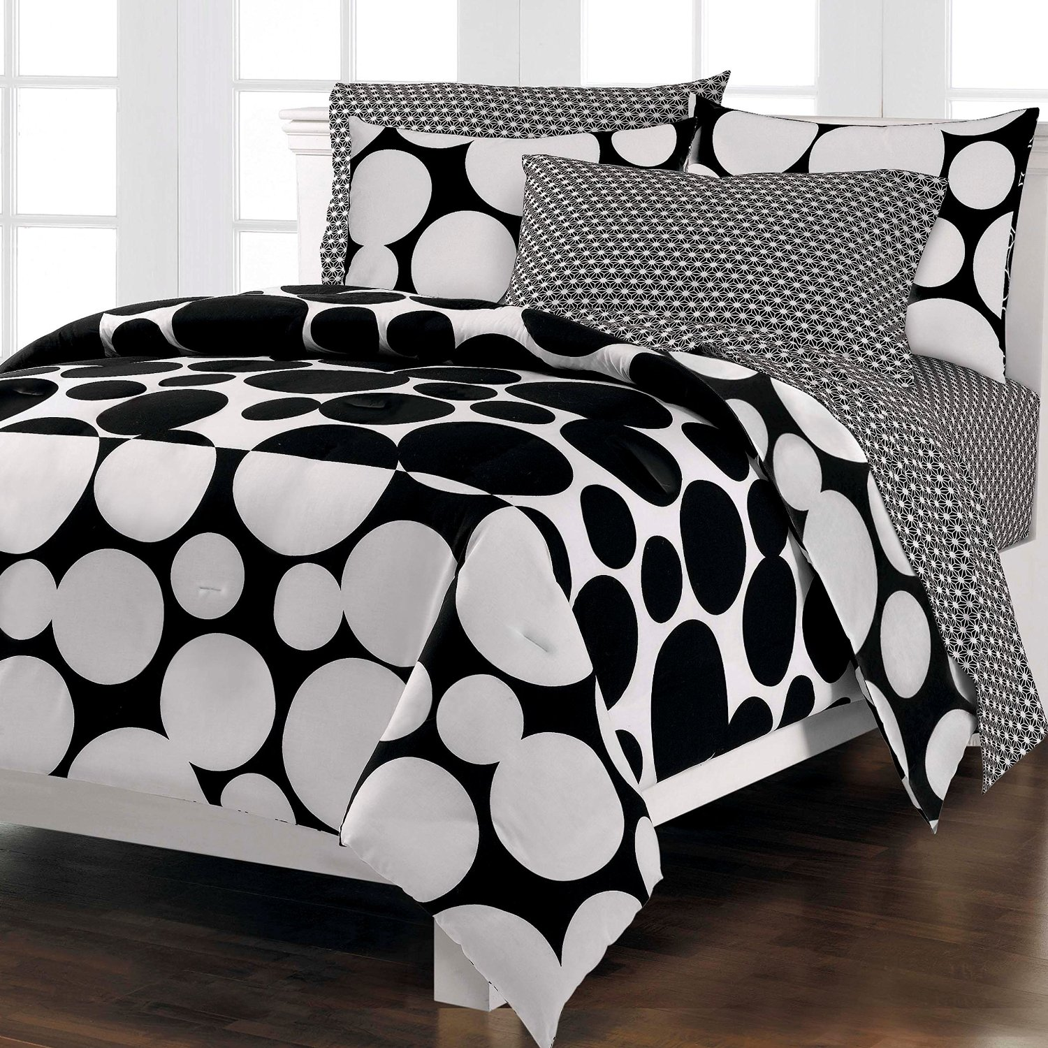 black and white comforter sets queen size