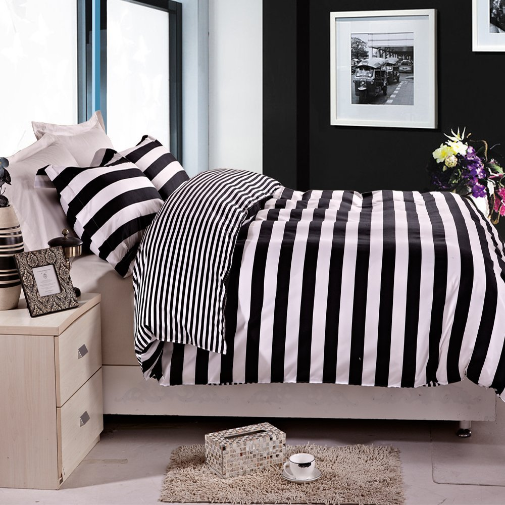 black and white duvet cover set by arya sweetgalas