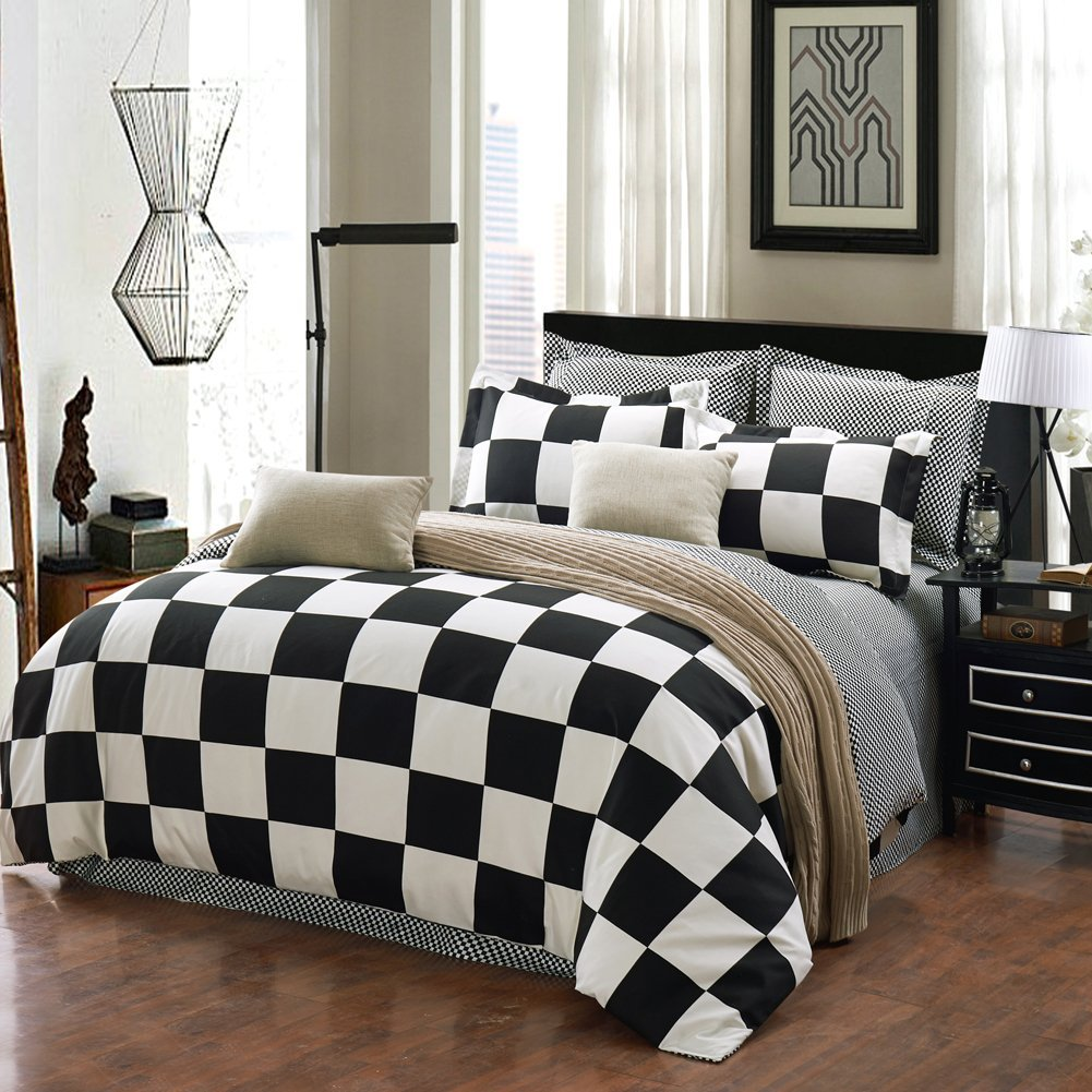 black and white duvet covers king