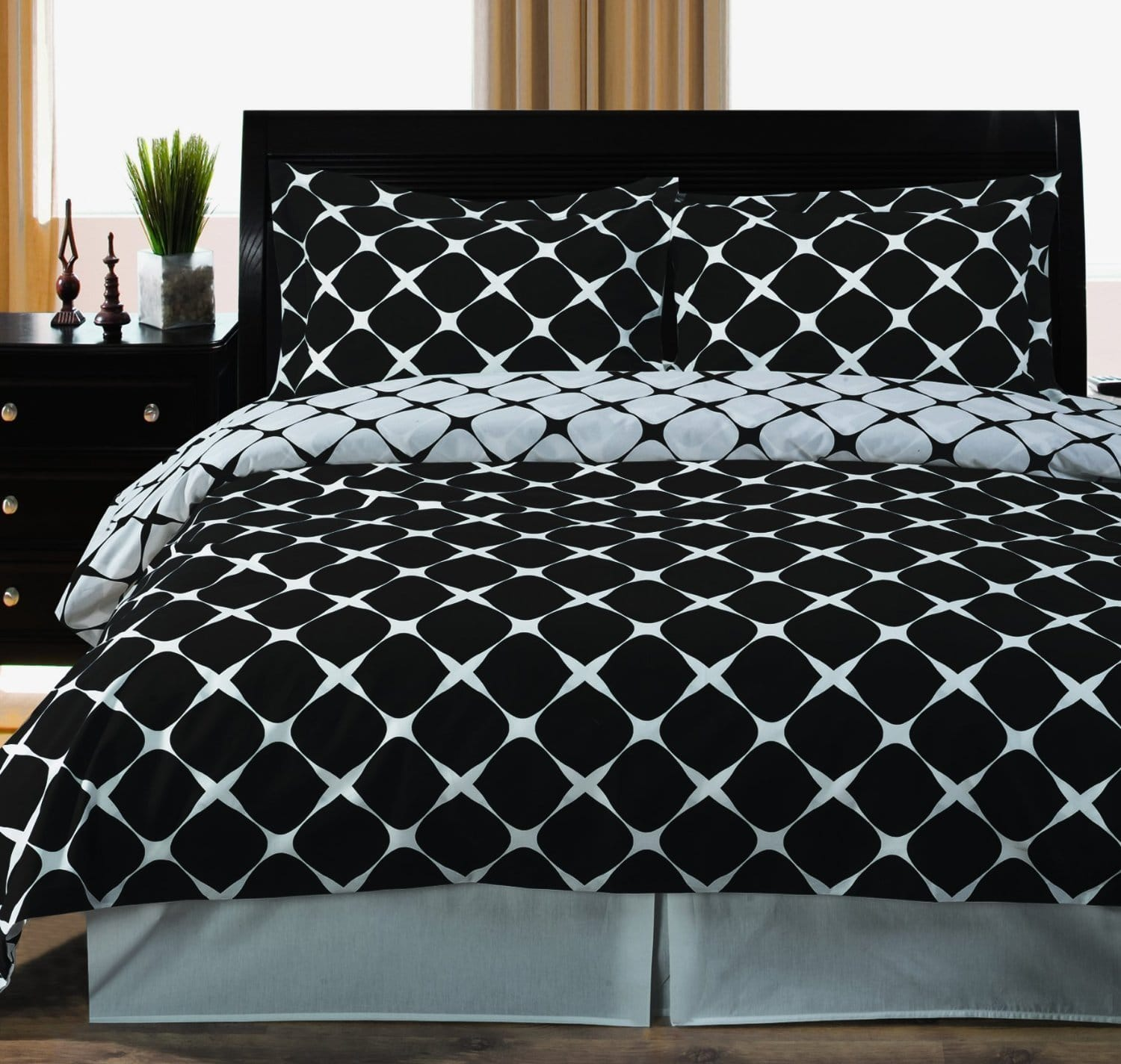 king size black and white duvet covers