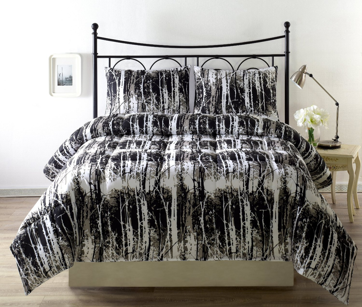 black and white bedding set queen