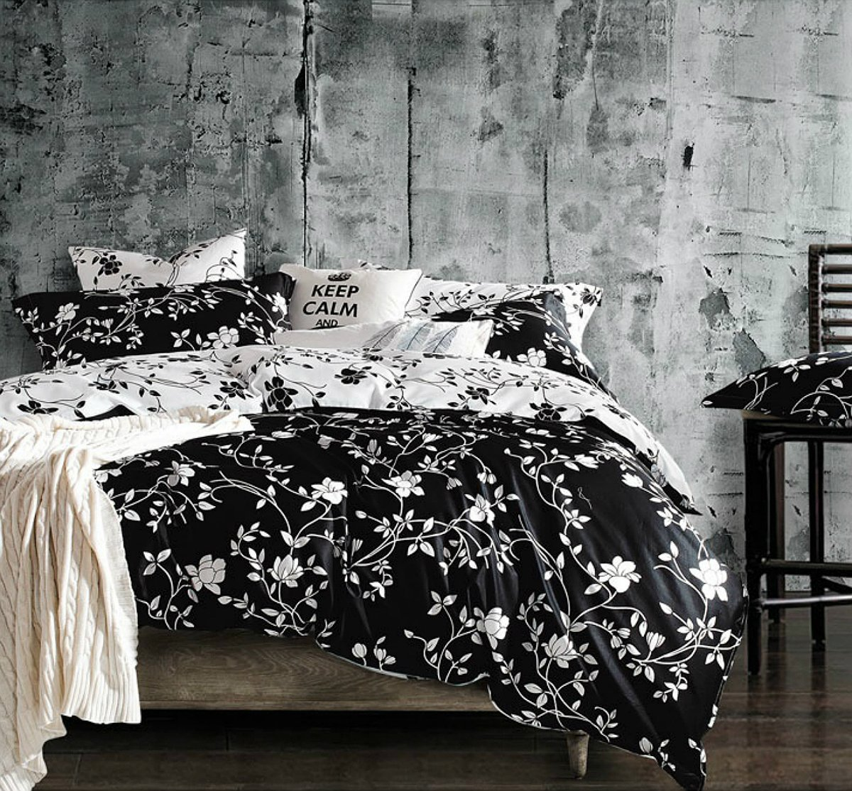 black and white bedding sets that will make your room look great