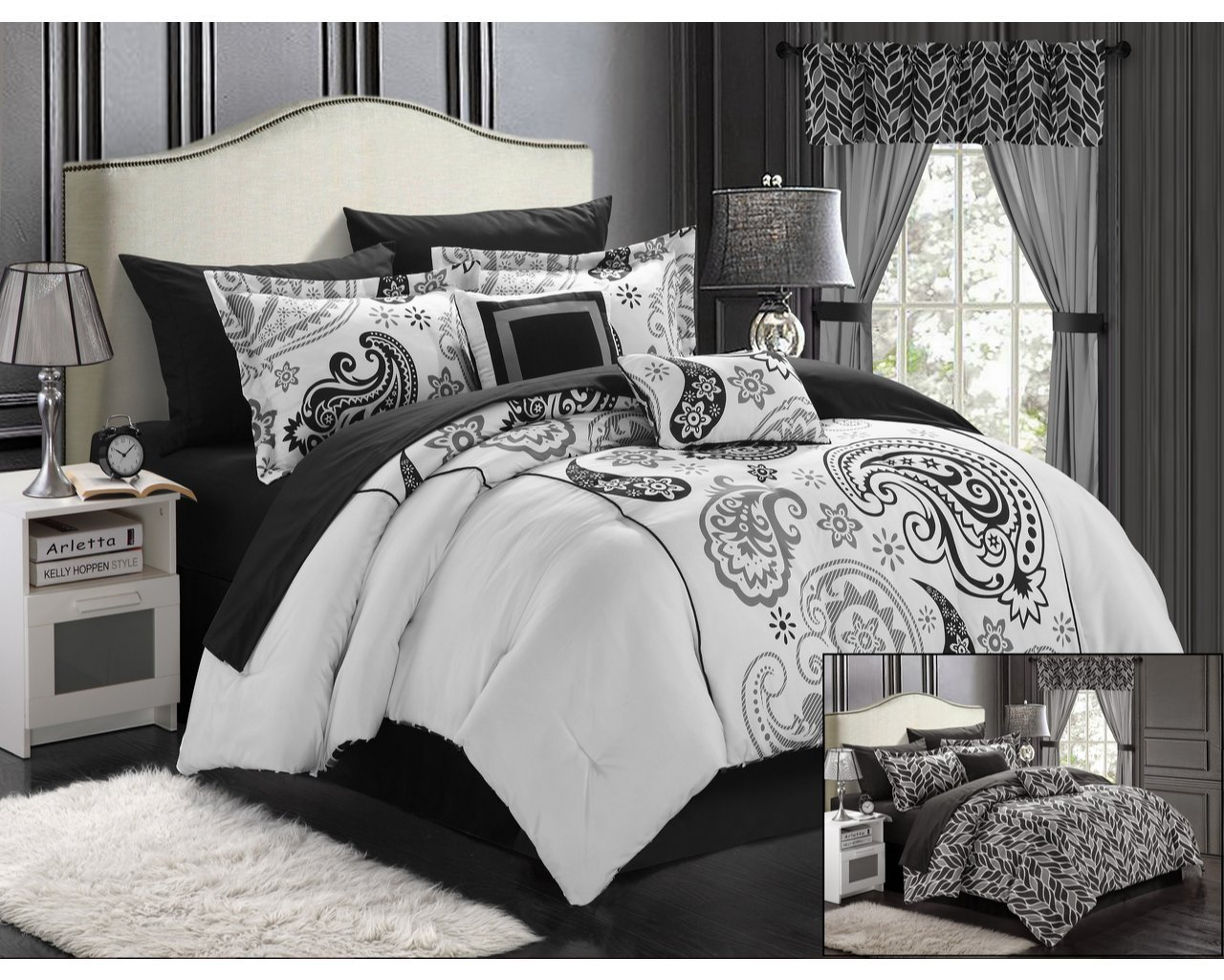 Bed sheet set black and white - Black White Bedding Sets