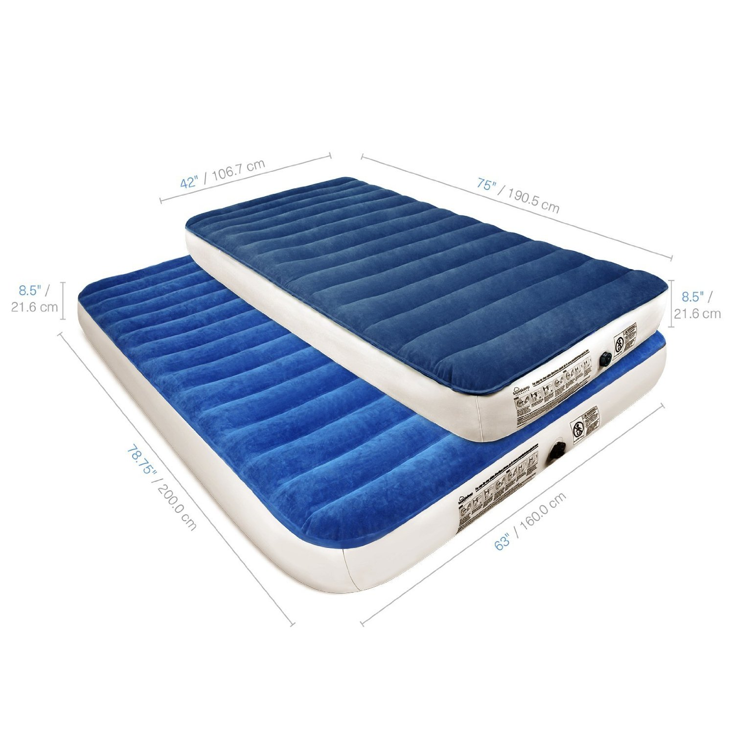SoundAsleep Camping Series Air Mattress with Included Rechargable Air Pump